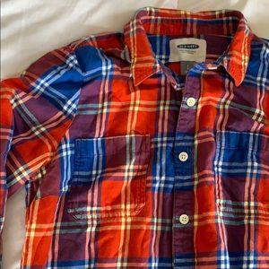 Plaid old navy shirt